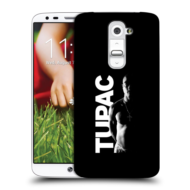 Plastové pouzdro na mobil LG G2 HEAD CASE TUPAC - Black and White