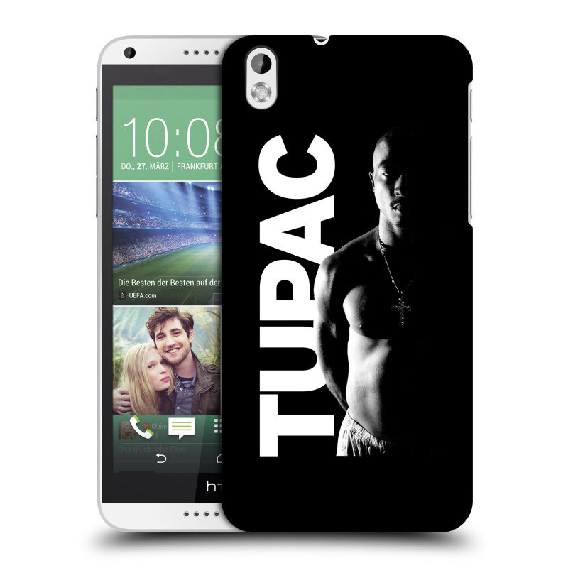 Plastové pouzdro na mobil HTC Desire 816 HEAD CASE TUPAC - Black and White