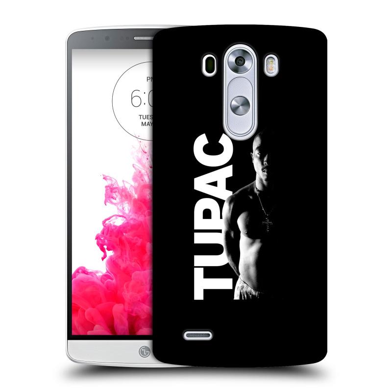 Plastové pouzdro na mobil LG G3 HEAD CASE TUPAC - Black and White (Plastový kryt či obal na mobilní telefon s oficiálním motivem rappera Tupaca Amaru Shakura pro LG G3)