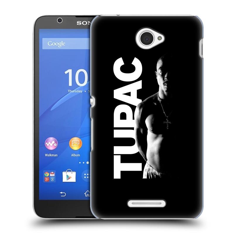 Plastové pouzdro na mobil Sony Xperia E4 E2105 HEAD CASE TUPAC - Black and White (Plastový kryt či obal na mobilní telefon s oficiálním motivem rappera Tupaca Amaru Shakura pro Sony Xperia E4 a E4 Dual SIM)