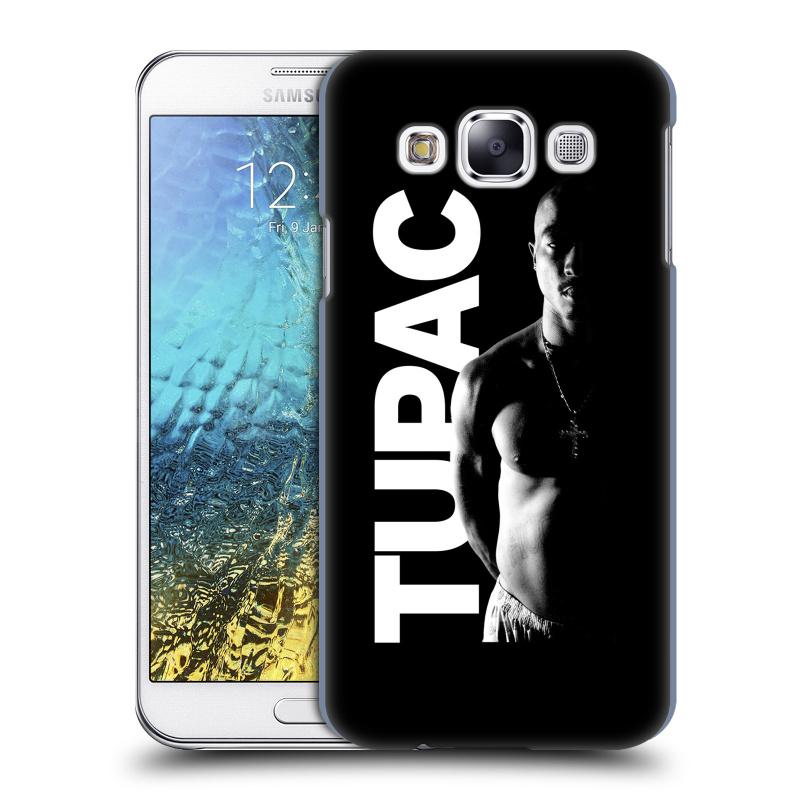 Plastové pouzdro na mobil Samsung Galaxy E5 HEAD CASE TUPAC - Black and White