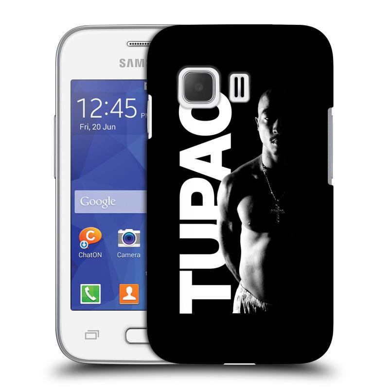 Plastové pouzdro na mobil Samsung Galaxy Young 2 HEAD CASE TUPAC - Black and White (Plastový kryt či obal na mobilní telefon s oficiálním motivem rappera Tupaca Amaru Shakura pro Samsung Galaxy Young 2 SM-G130)