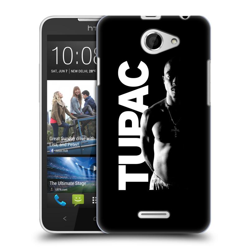 Plastové pouzdro na mobil HTC Desire 516 HEAD CASE TUPAC - Black and White (Plastový kryt či obal na mobilní telefon s oficiálním motivem rappera Tupaca Amaru Shakura pro HTC Desire 516 Dual SIM)