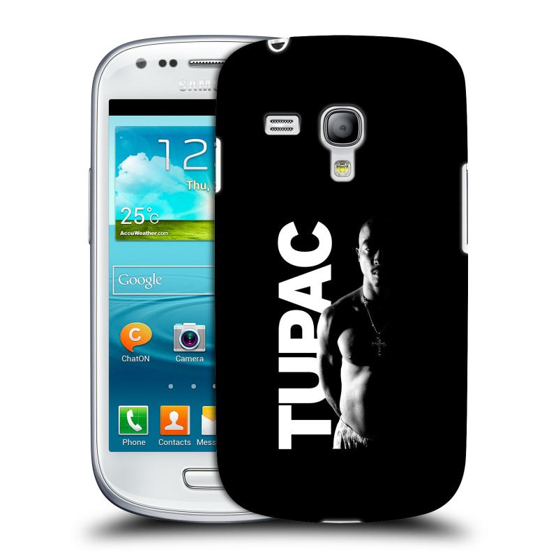 Silikonové pouzdro na mobil Samsung Galaxy S III Mini VE HEAD CASE TUPAC - Black and White (Plastový kryt či obal na mobilní telefon s oficiálním motivem rappera Tupaca Amaru Shakura pro Samsung Galaxy S3 Mini VE GT-i8200)