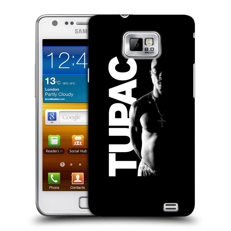 Plastové pouzdro na mobil Samsung Galaxy S II HEAD CASE TUPAC - Black and White (Plastový kryt či obal na mobilní telefon s oficiálním motivem rappera Tupaca Amaru Shakura pro Samsung Galaxy S II GT-i9100)