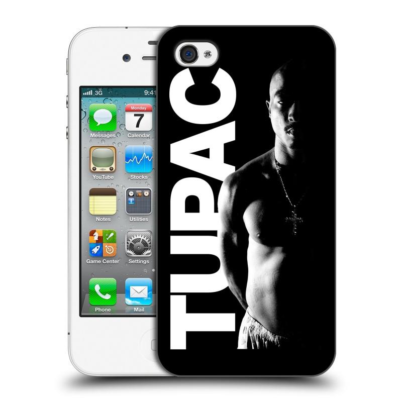 Plastové pouzdro na mobil Apple iPhone 4 a 4S HEAD CASE TUPAC - Black and White (Plastový kryt či obal na mobilní telefon s oficiálním motivem rappera Tupaca Amaru Shakura pro Apple iPhone 4 a 4S)