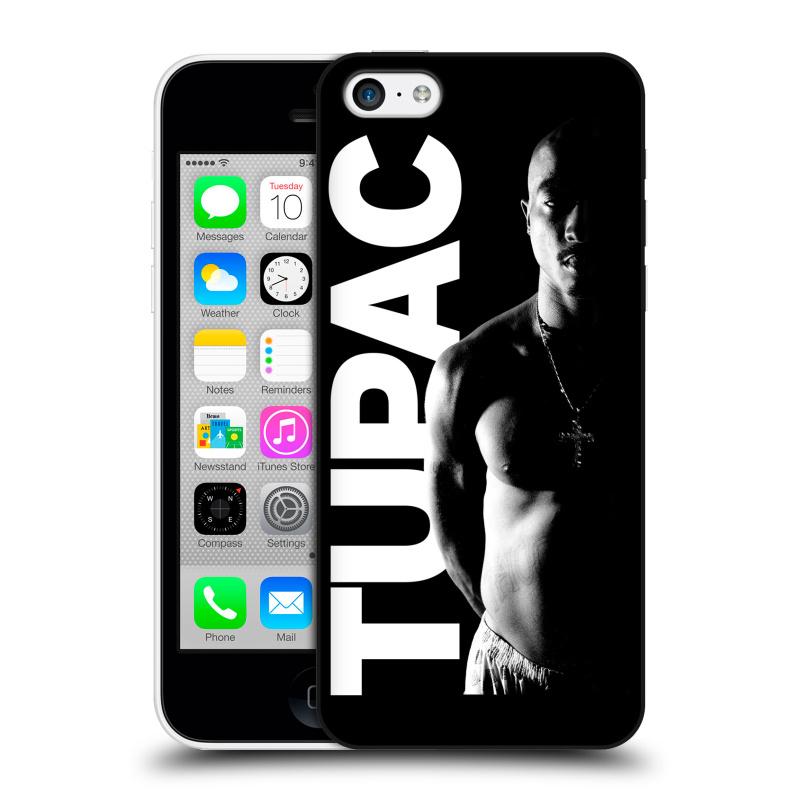 Plastové pouzdro na mobil Apple iPhone 5C HEAD CASE TUPAC - Black and White (Plastový kryt či obal na mobilní telefon s oficiálním motivem rappera Tupaca Amaru Shakura pro Apple iPhone 5C)