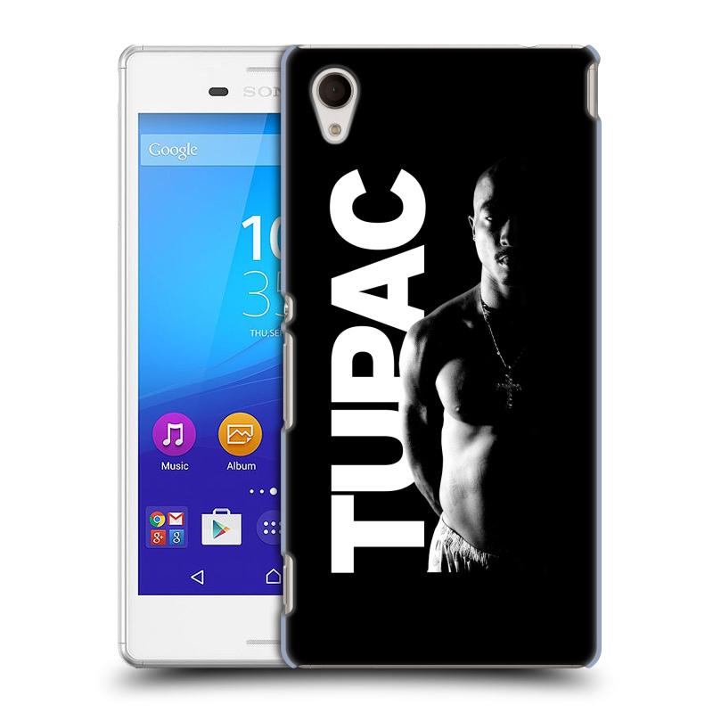 Plastové pouzdro na mobil Sony Xperia M4 Aqua E2303 HEAD CASE TUPAC - Black and White (Plastový kryt či obal na mobilní telefon s oficiálním motivem rappera Tupaca Amaru Shakura pro Sony Xperia M4 Aqua a M4 Aqua Dual SIM)