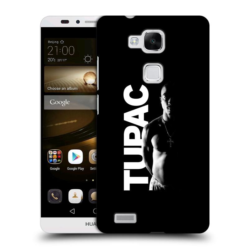 Plastové pouzdro na mobil Huawei Ascend Mate 7 HEAD CASE TUPAC - Black and White (Plastový kryt či obal na mobilní telefon s oficiálním motivem rappera Tupaca Amaru Shakura pro Huawei Ascend Mate7)