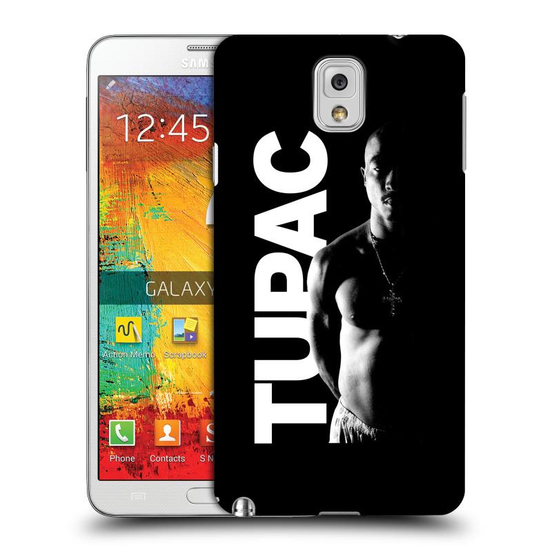 Plastové pouzdro na mobil Samsung Galaxy Note 3 HEAD CASE TUPAC - Black and White (Plastový kryt či obal na mobilní telefon s oficiálním motivem rappera Tupaca Amaru Shakura pro Samsung Galaxy Note 3 SM-N9005)