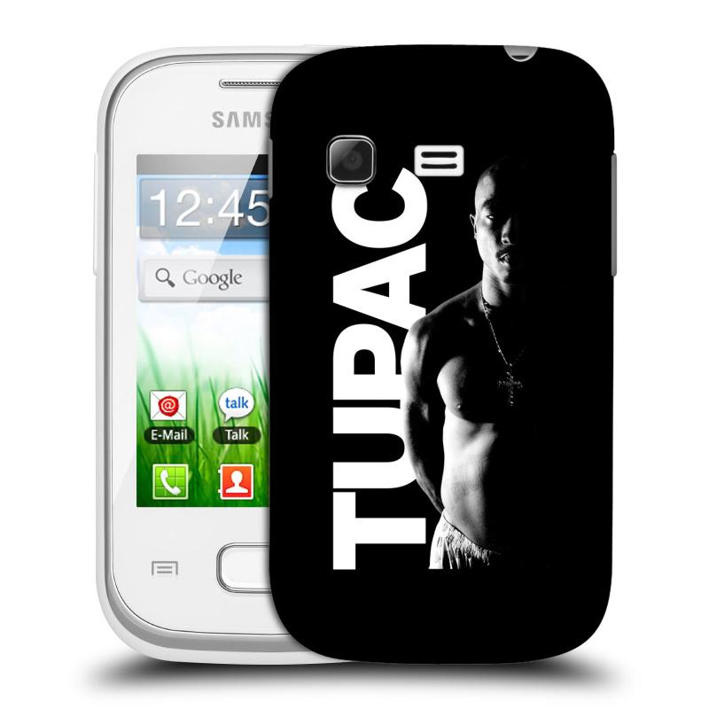 Plastové pouzdro na mobil Samsung Galaxy Pocket HEAD CASE TUPAC - Black and White (Plastový kryt či obal na mobilní telefon s oficiálním motivem rappera Tupaca Amaru Shakura pro Samsung Galaxy Pocket GT-S5300)