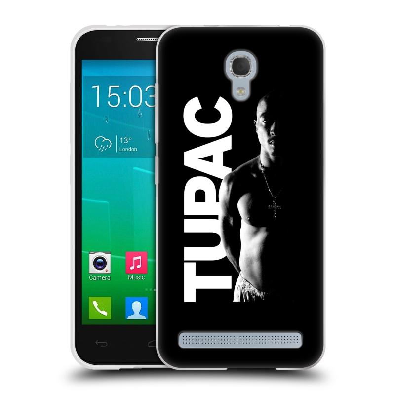 Silikonové pouzdro na mobil Alcatel One Touch Idol 2 Mini S 6036Y HEAD CASE TUPAC - Black and White (Silikonový kryt či obal na mobilní telefon s oficiálním motivem rappera Tupaca Amaru Shakura pro Alcatel Idol 2 Mini S OT-6036Y)