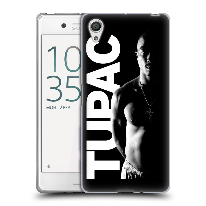 Silikonové pouzdro na mobil Sony Xperia X HEAD CASE TUPAC - Black and White (Silikonový kryt či obal na mobilní telefon s oficiálním motivem rappera Tupaca Amaru Shakura pro Sony Xperia X F5121 / Dual SIM F5122)