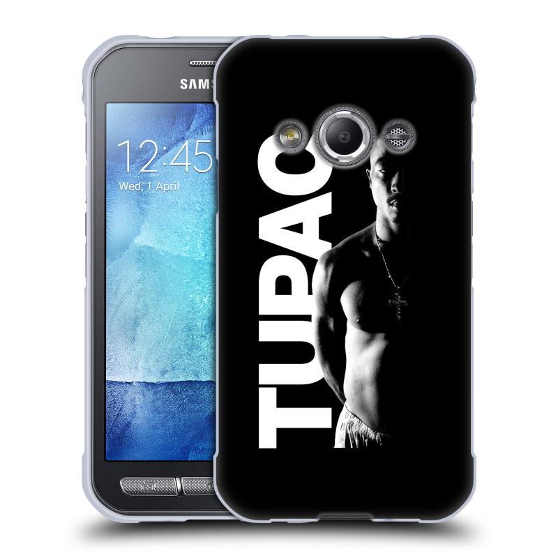 Silikonové pouzdro na mobil Samsung Galaxy Xcover 3 HEAD CASE TUPAC - Black and White (Silikonový kryt či obal na mobilní telefon s oficiálním motivem rappera Tupaca Amaru Shakura pro Samsung Galaxy Xcover 3 SM-G388F)