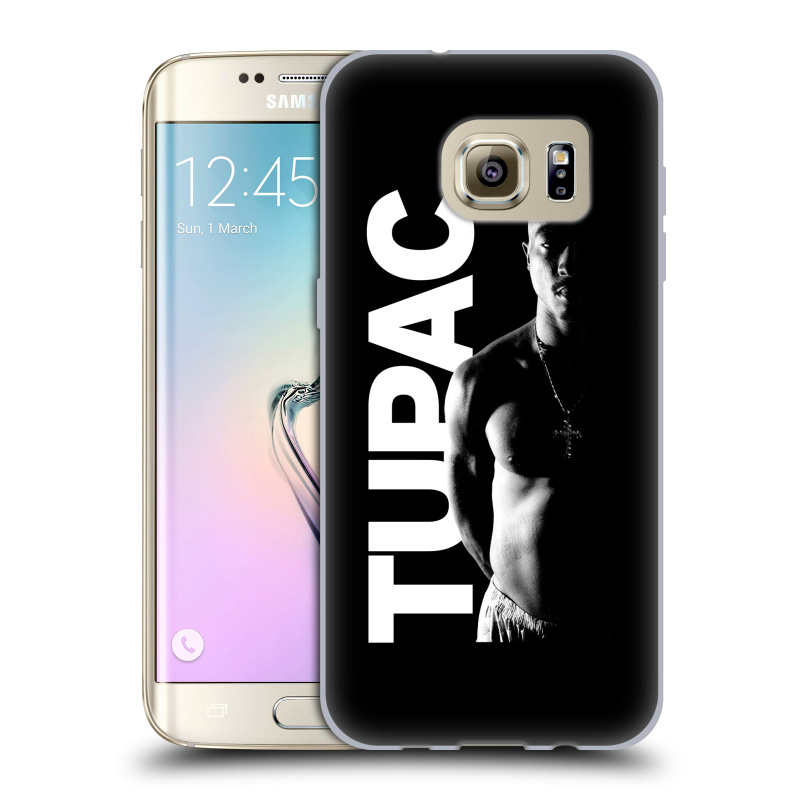Silikonové pouzdro na mobil Samsung Galaxy S7 Edge HEAD CASE TUPAC - Black and White (Silikonový kryt či obal na mobilní telefon s oficiálním motivem rappera Tupaca Amaru Shakura pro Samsung Galaxy S7 Edge SM-G935F)