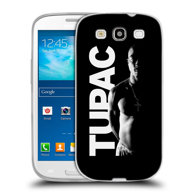 Silikonové pouzdro na mobil Samsung Galaxy S3 Neo HEAD CASE TUPAC - Black and White (Silikonový kryt či obal na mobilní telefon s oficiálním motivem rappera Tupaca Amaru Shakura pro Samsung Galaxy S3 Neo GT-i9301i)