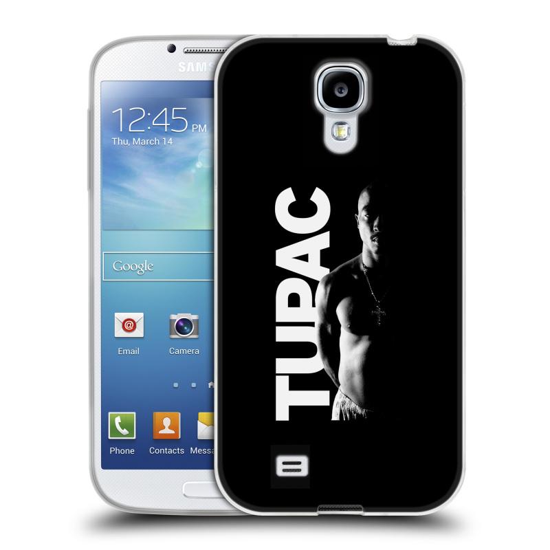 Silikonové pouzdro na mobil Samsung Galaxy S4 HEAD CASE TUPAC - Black and White (Silikonový kryt či obal na mobilní telefon s oficiálním motivem rappera Tupaca Amaru Shakura pro Samsung Galaxy S4 GT-i9505 / i9500)