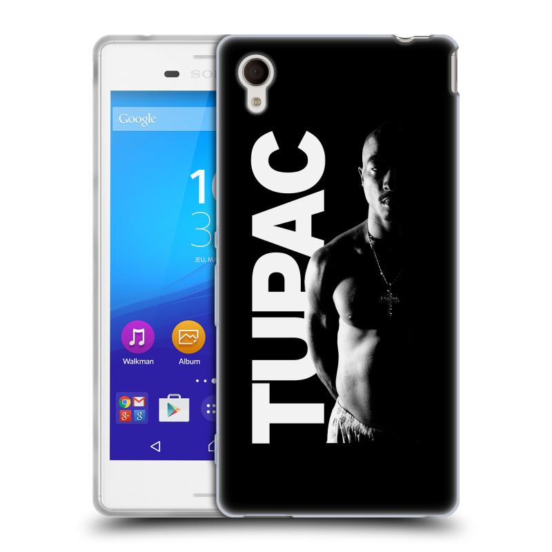 Silikonové pouzdro na mobil Sony Xperia M4 Aqua E2303 HEAD CASE TUPAC - Black and White (Silikonový kryt či obal na mobilní telefon s oficiálním motivem rappera Tupaca Amaru Shakura pro Sony Xperia M4 Aqua a M4 Aqua Dual SIM)