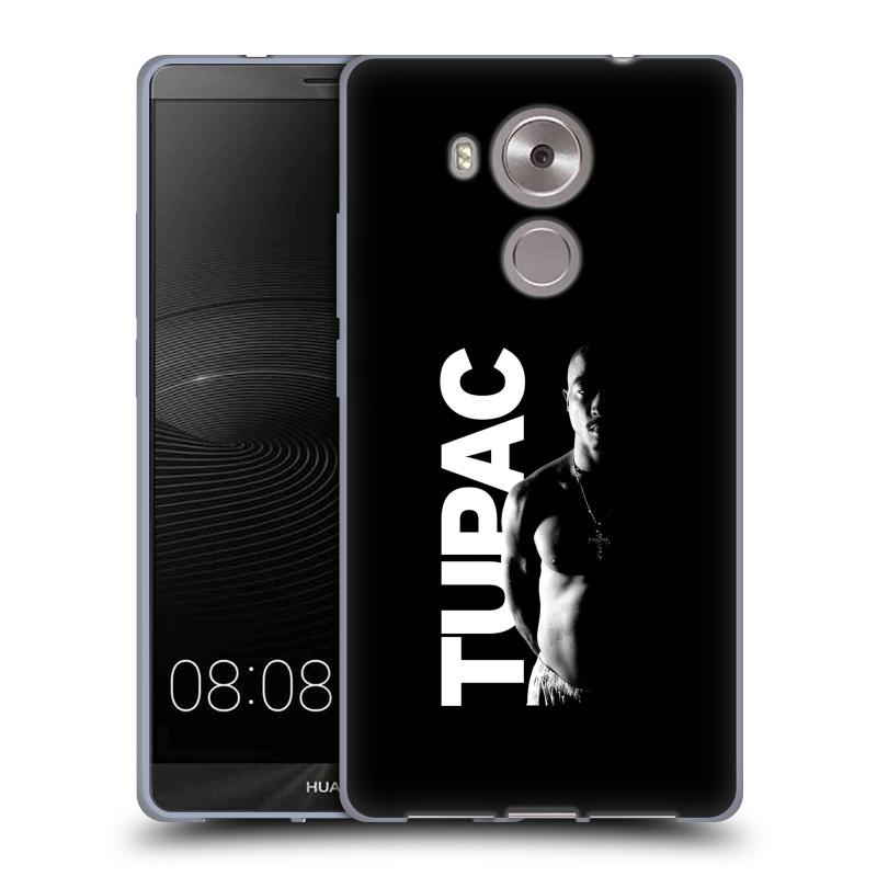 Silikonové pouzdro na mobil Huawei Ascend Mate 8 HEAD CASE TUPAC - Black and White (Silikonový kryt či obal na mobilní telefon s oficiálním motivem rappera Tupaca Amaru Shakura pro Huawei Ascend MATE8)
