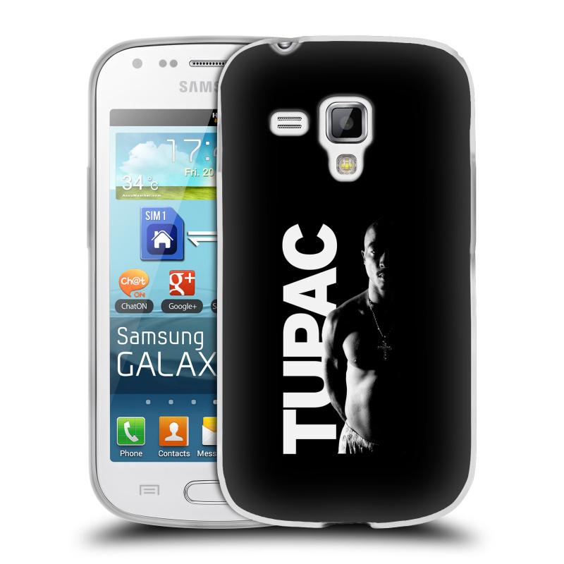 Silikonové pouzdro na mobil Samsung Galaxy S Duos 2 HEAD CASE TUPAC - Black and White (Silikonový kryt či obal na mobilní telefon s oficiálním motivem rappera Tupaca Amaru Shakura pro Samsung Galaxy S Duos 2 GT-S7582)