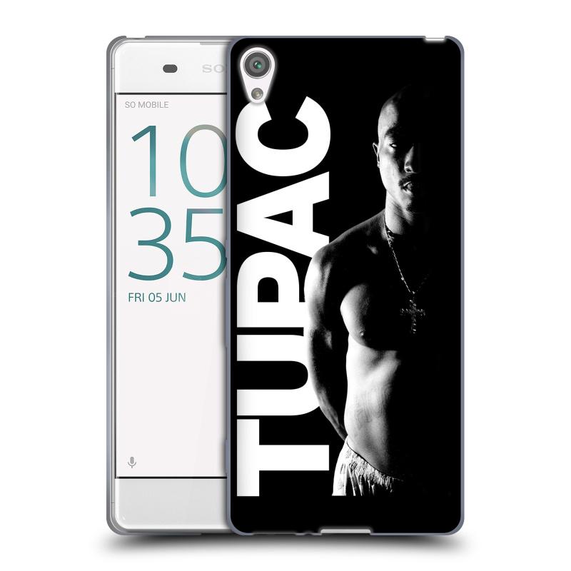 Silikonové pouzdro na mobil Sony Xperia XA HEAD CASE TUPAC - Black and White (Silikonový kryt či obal na mobilní telefon s oficiálním motivem rappera Tupaca Amaru Shakura pro Sony Xperia XA F3111 / Dual SIM F3112)