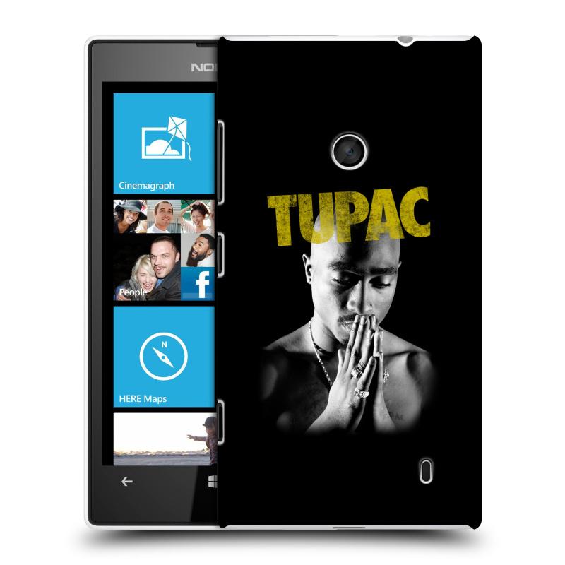 Plastové pouzdro na mobil Nokia Lumia 520 HEAD CASE TUPAC - Golden