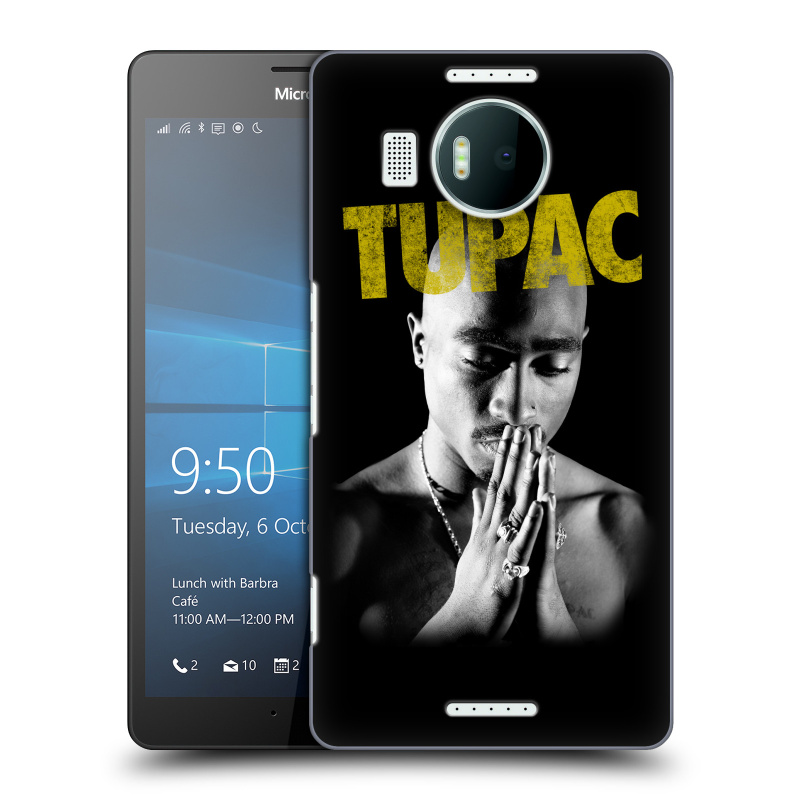Plastové pouzdro na mobil Microsoft Lumia 950 XL HEAD CASE TUPAC - Golden