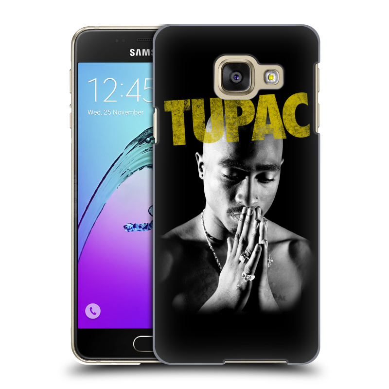 Plastové pouzdro na mobil Samsung Galaxy A3 (2016) HEAD CASE TUPAC - Golden