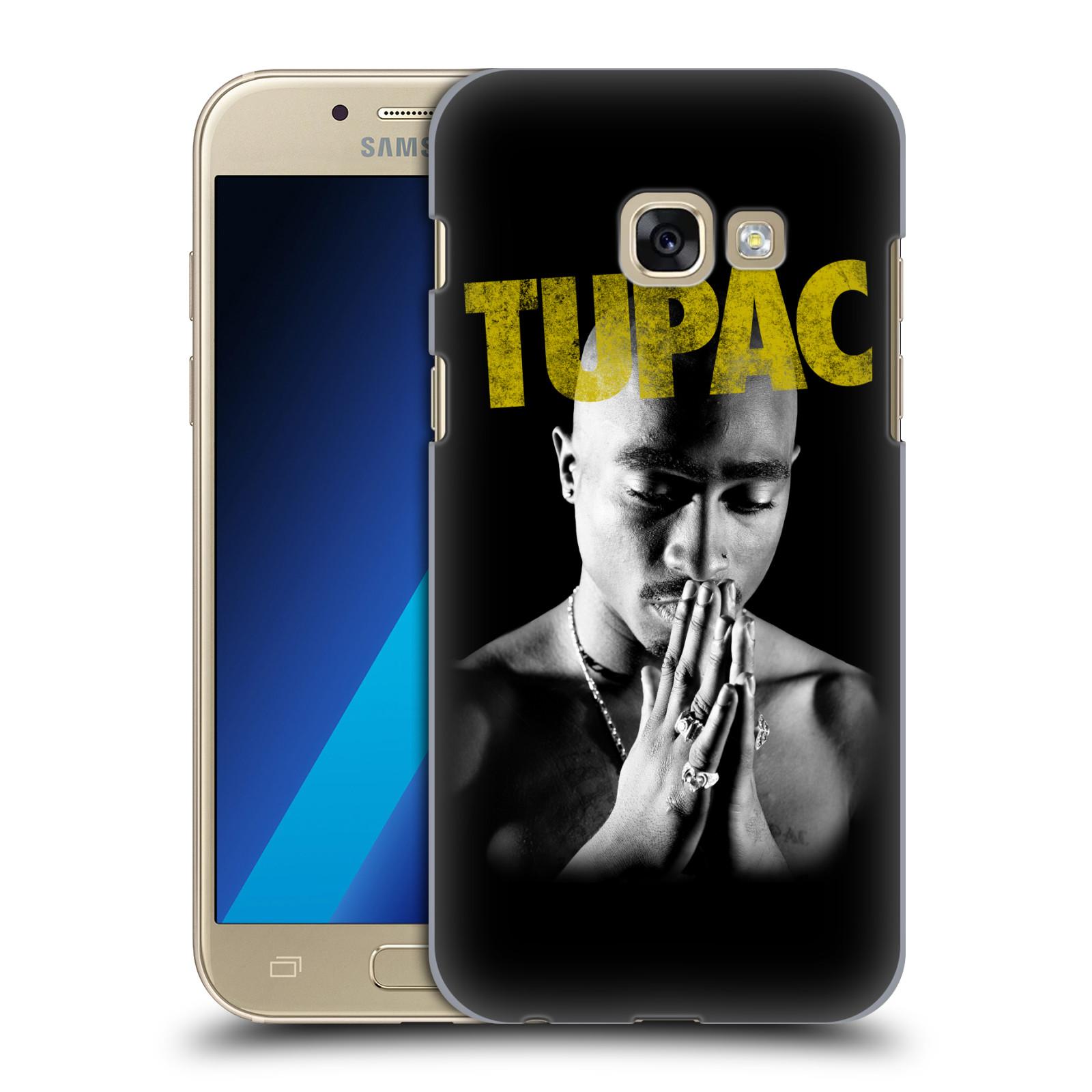 Plastové pouzdro na mobil Samsung Galaxy A3 (2017) HEAD CASE TUPAC - Golden