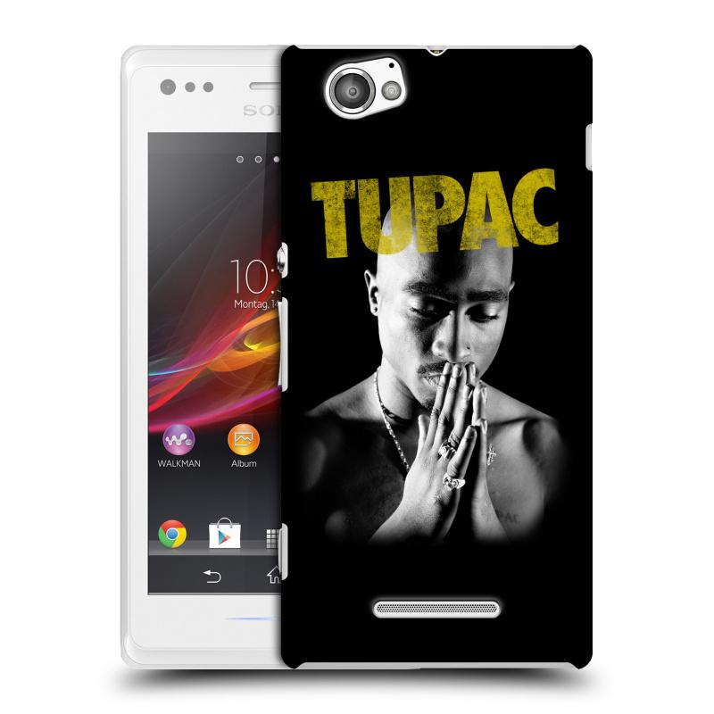 Plastové pouzdro na mobil Sony Xperia M C1905 HEAD CASE TUPAC - Golden