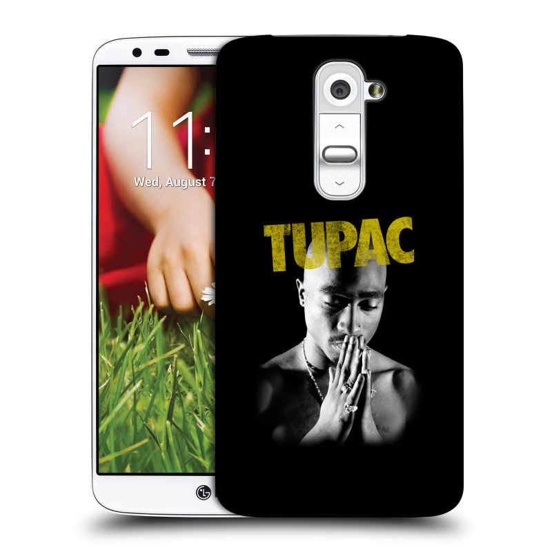 Plastové pouzdro na mobil LG G2 HEAD CASE TUPAC - Golden
