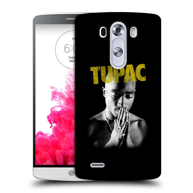 Plastové pouzdro na mobil LG G3 HEAD CASE TUPAC - Golden