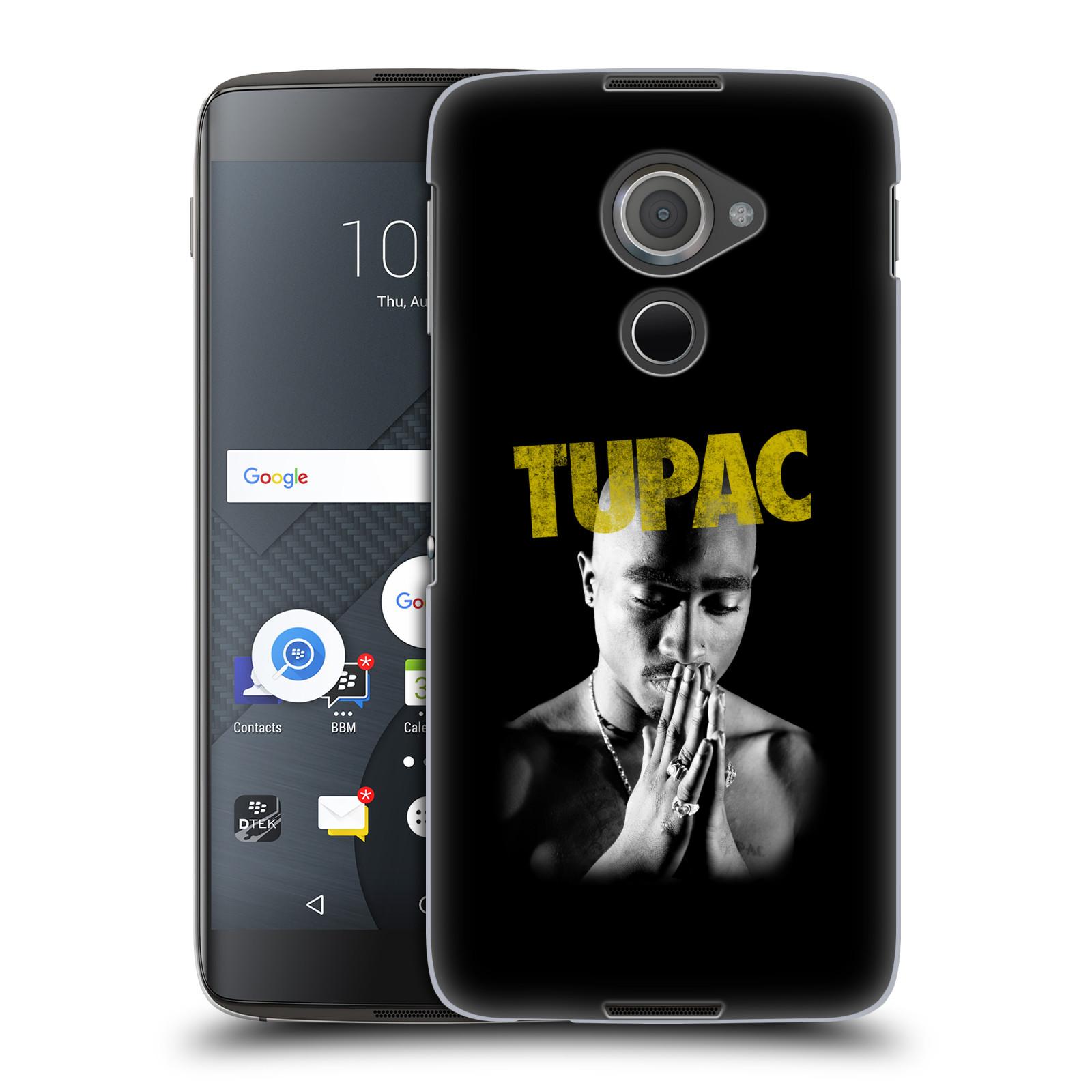 Plastové pouzdro na mobil Blackberry DTEK60 (Argon) - Head Case TUPAC - Golden