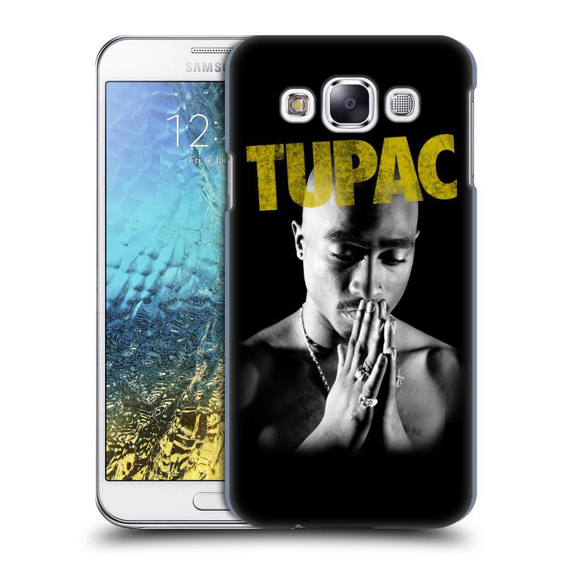 Plastové pouzdro na mobil Samsung Galaxy E5 HEAD CASE TUPAC - Golden