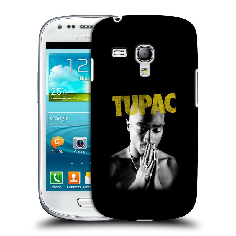 Silikonové pouzdro na mobil Samsung Galaxy S III Mini VE HEAD CASE TUPAC - Golden (Plastový kryt či obal na mobilní telefon s oficiálním motivem rappera Tupaca Amaru Shakura pro Samsung Galaxy S3 Mini VE GT-i8200)