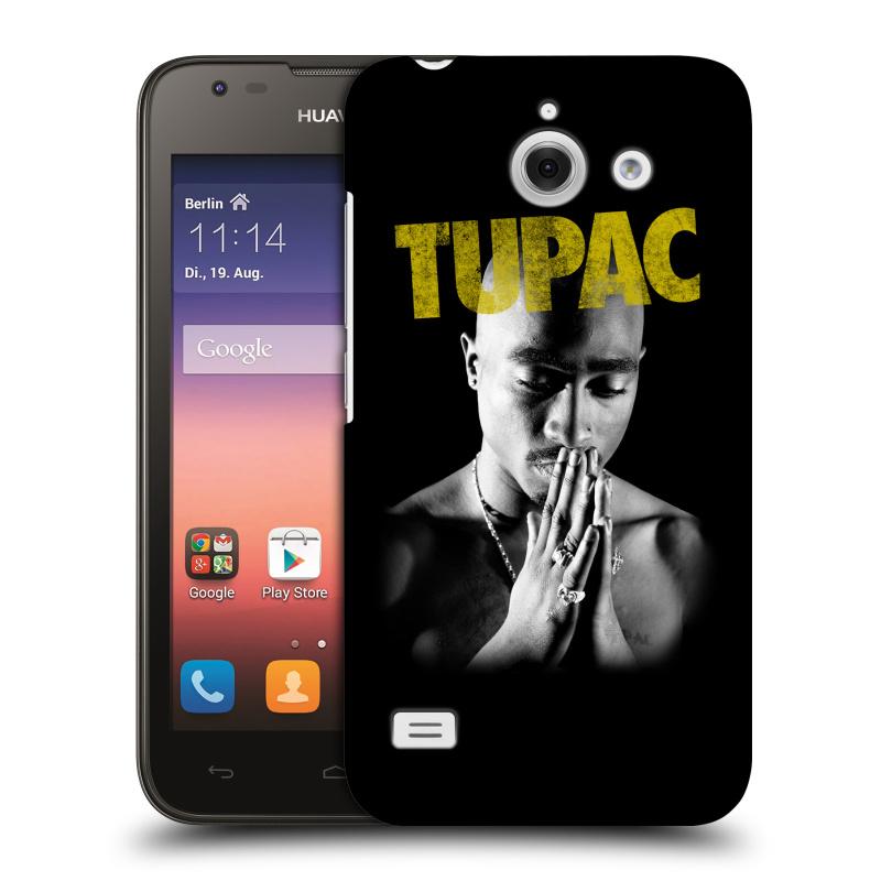 Plastové pouzdro na mobil Huawei Ascend Y550 HEAD CASE TUPAC - Golden (Plastový kryt či obal na mobilní telefon s oficiálním motivem rappera Tupaca Amaru Shakura pro Huawei Ascend Y550)