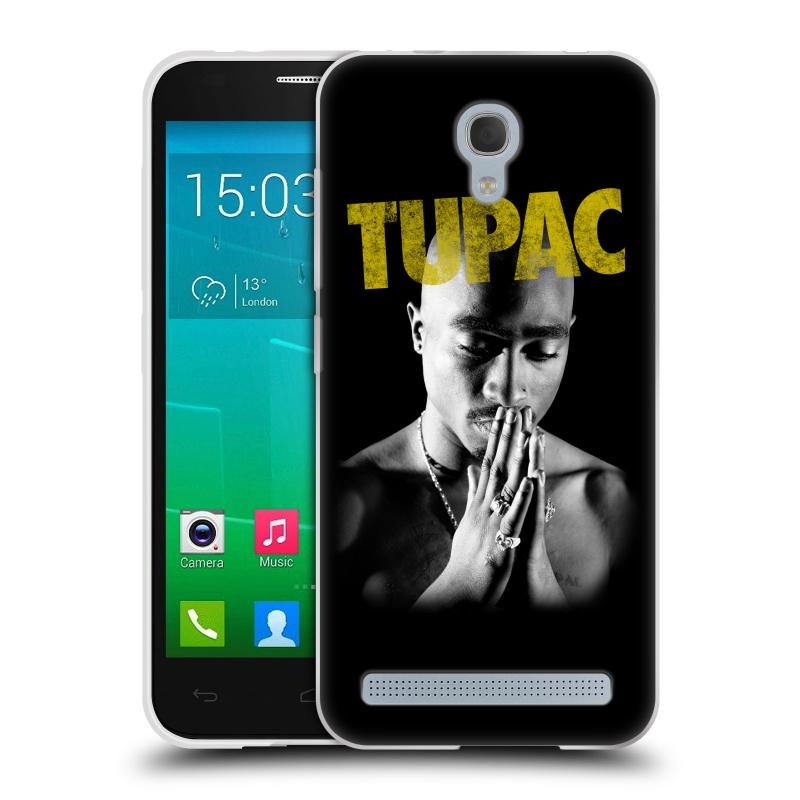 Silikonové pouzdro na mobil Alcatel One Touch Idol 2 Mini S 6036Y HEAD CASE TUPAC - Golden (Silikonový kryt či obal na mobilní telefon s oficiálním motivem rappera Tupaca Amaru Shakura pro Alcatel Idol 2 Mini S OT-6036Y)