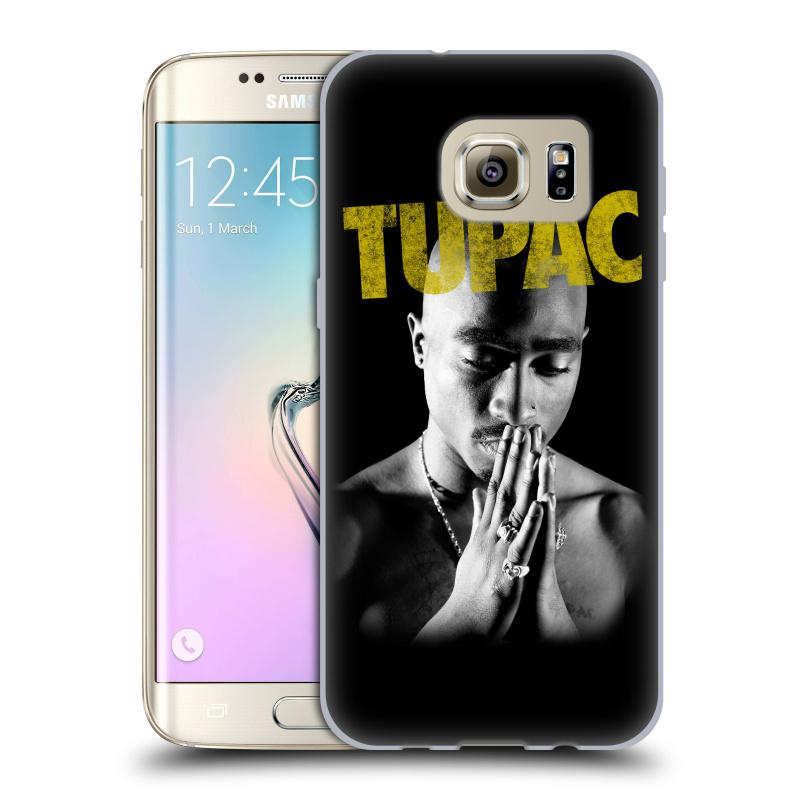 Silikonové pouzdro na mobil Samsung Galaxy S7 Edge HEAD CASE TUPAC - Golden
