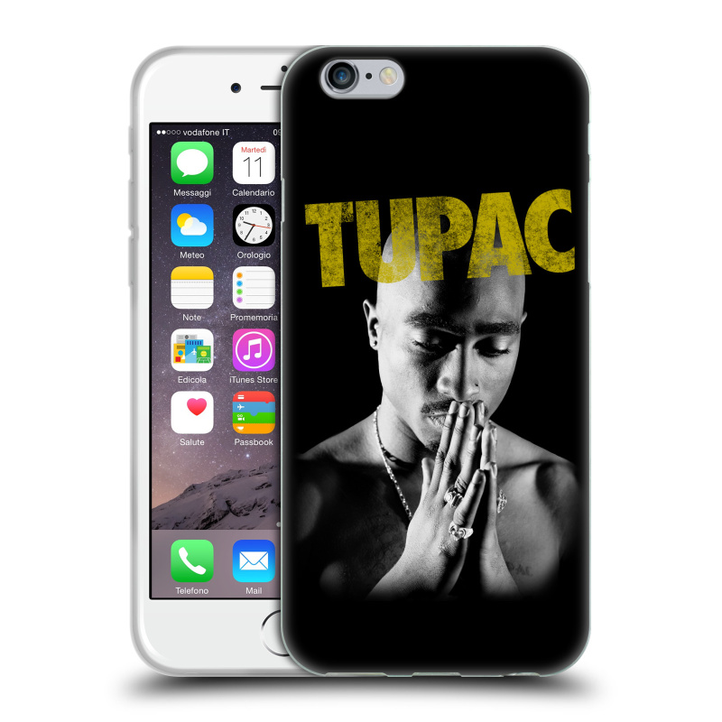 Silikonové pouzdro na mobil Apple iPhone 6 HEAD CASE TUPAC - Golden