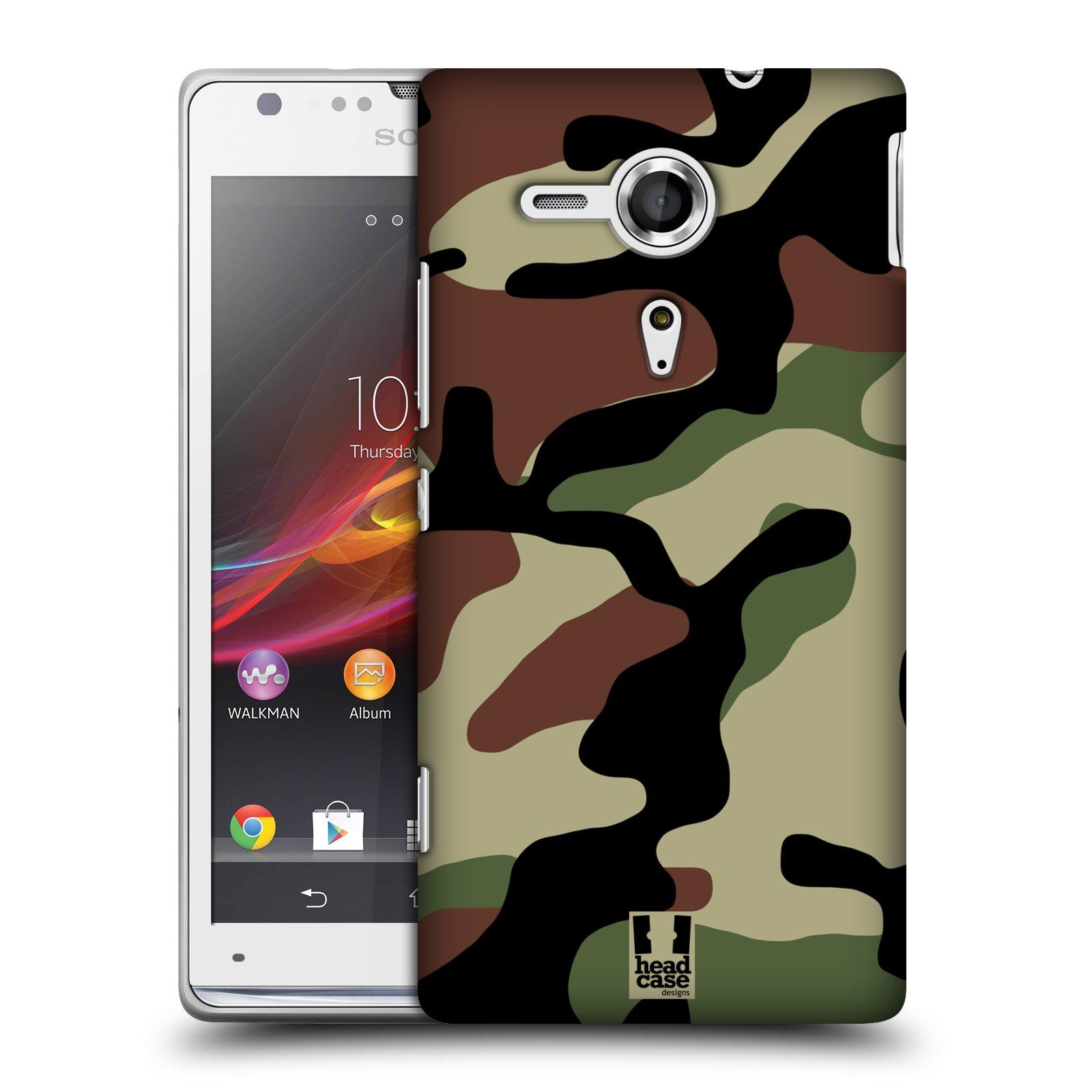 Plastové pouzdro na mobil Sony Xperia SP C5303 HEAD CASE Maskáče (Kryt či obal na mobilní telefon Sony Xperia SP )