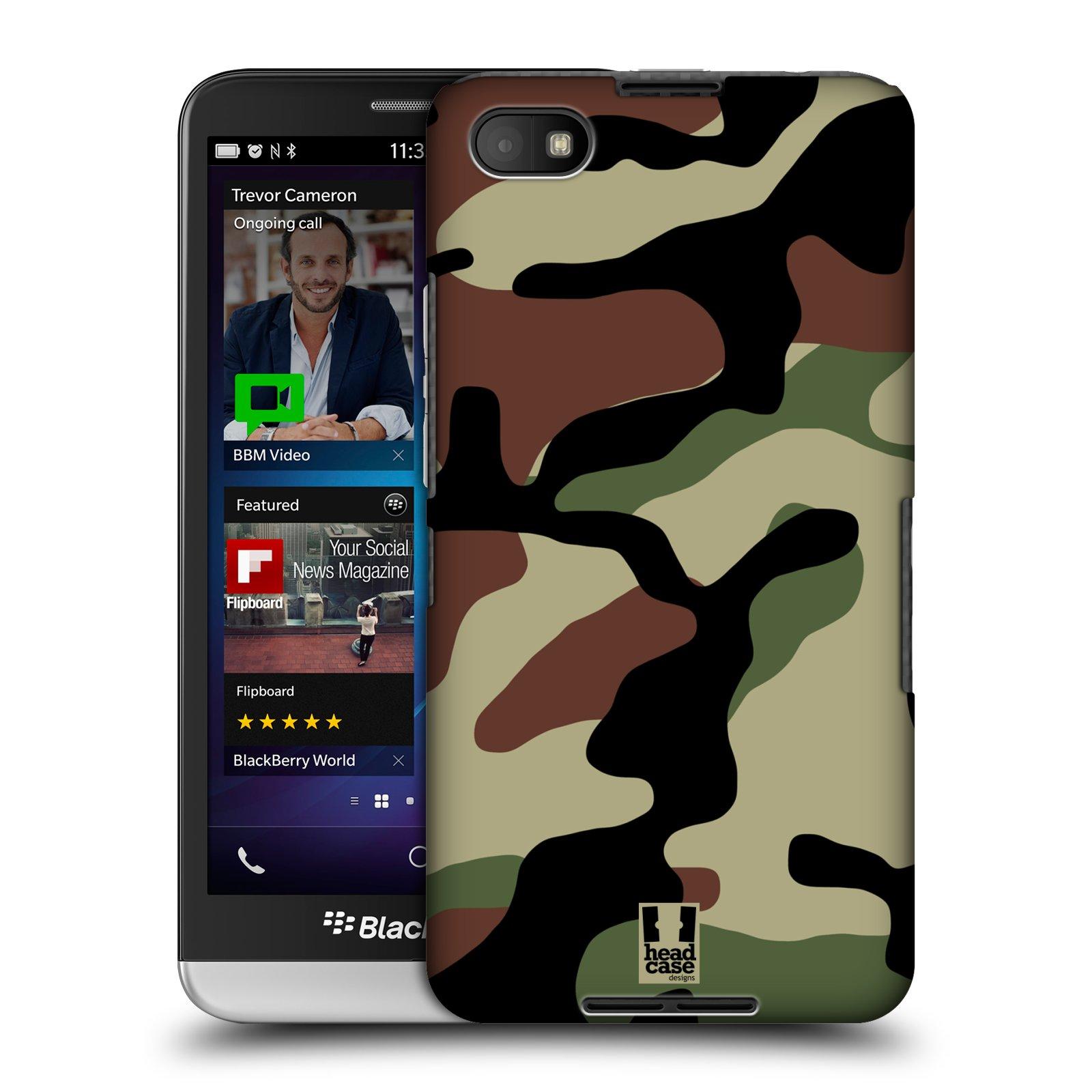 Plastové pouzdro na mobil Blackberry Z30 HEAD CASE Maskáče (Kryt či obal na mobilní telefon Blackberry Z30)