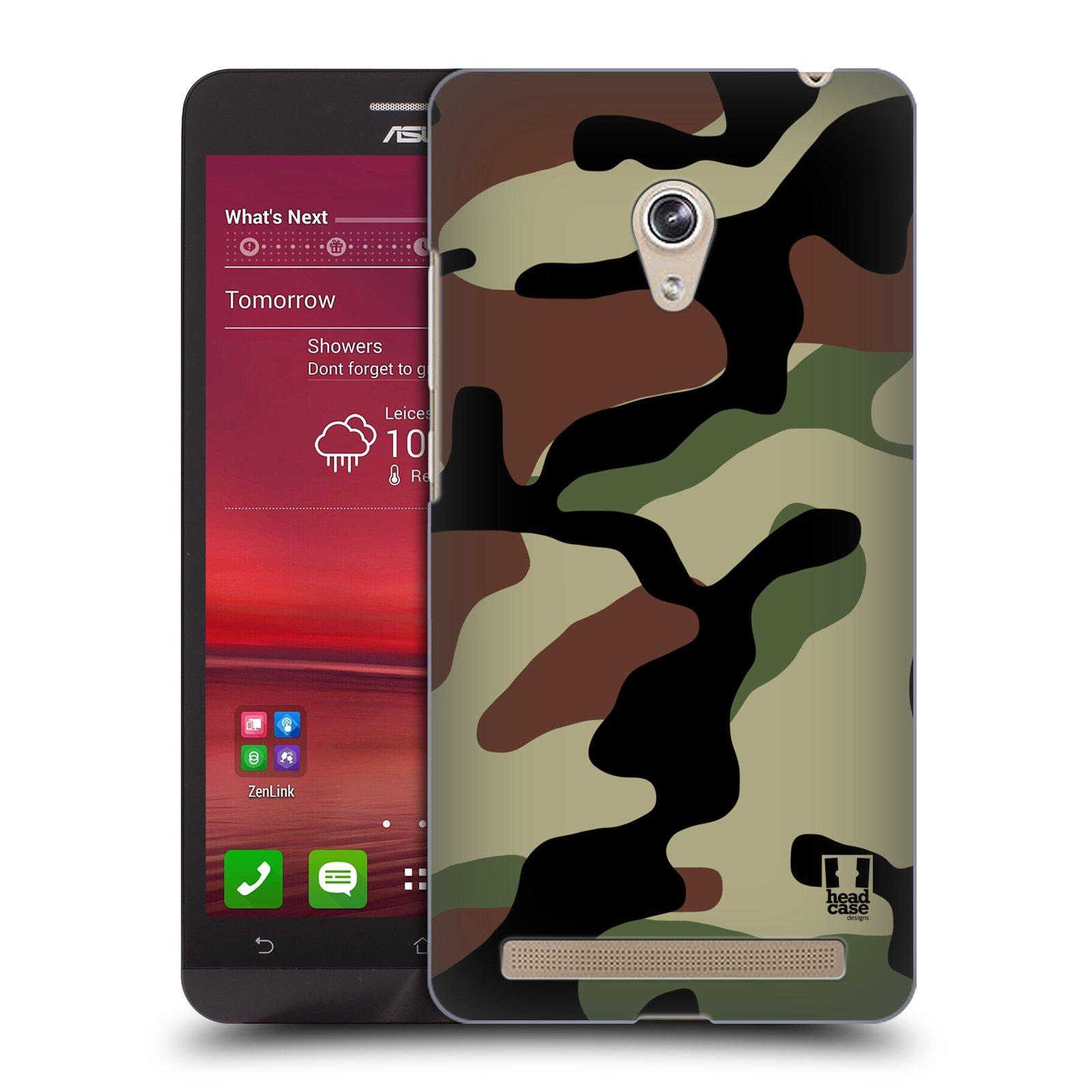 Plastové pouzdro na mobil Asus Zenfone 6 HEAD CASE Maskáče (Kryt či obal na mobilní telefon Asus Zenfone 6 A600CG / A601CG)