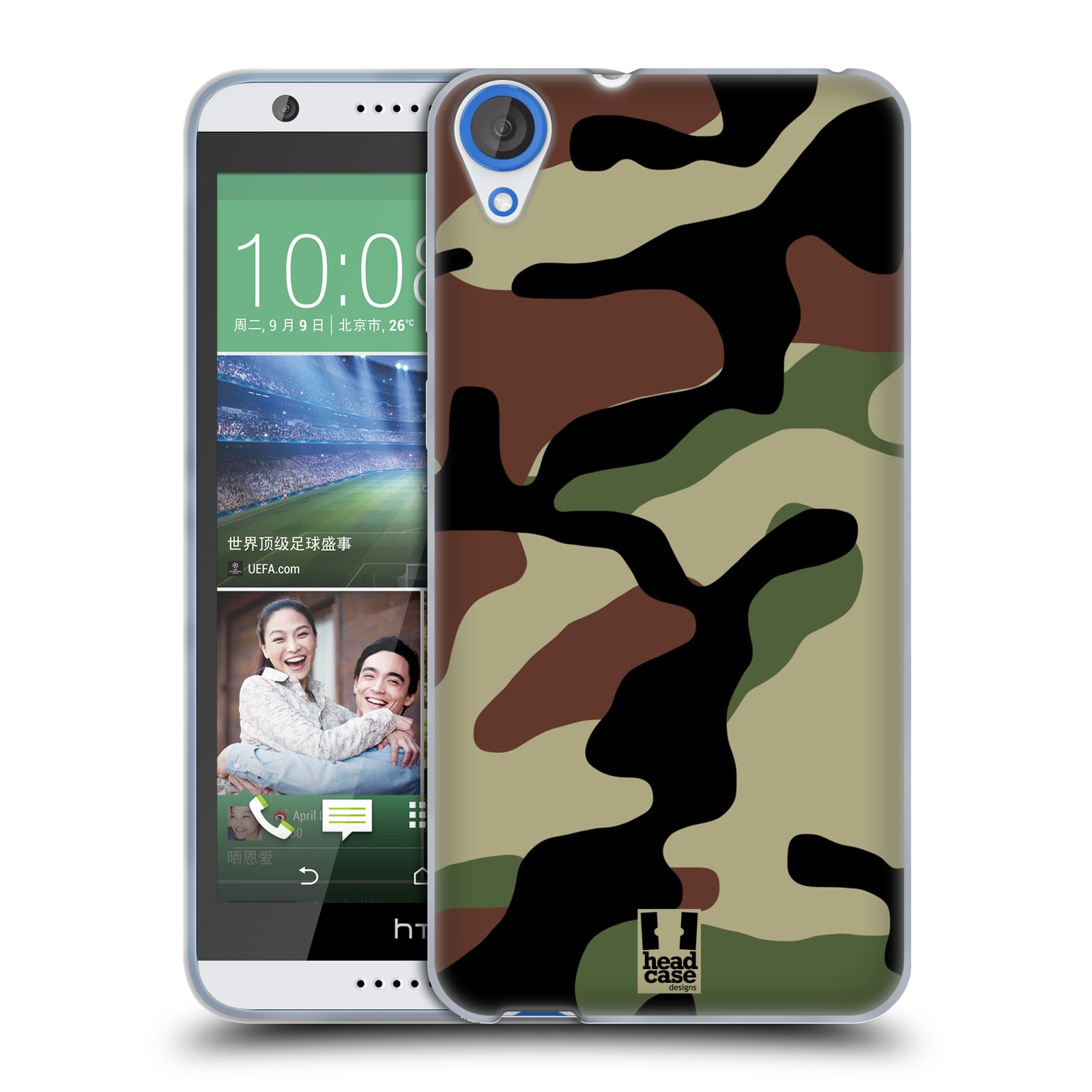 Silikonové pouzdro na mobil HTC Desire 820 HEAD CASE Maskáče (Silikonový kryt či obal na mobilní telefon HTC Desire 820)