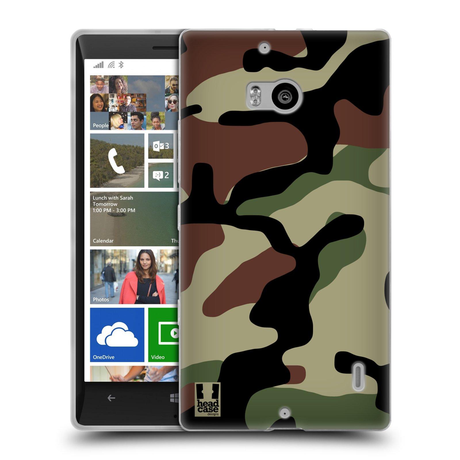 Silikonové pouzdro na mobil Nokia Lumia 930 HEAD CASE Maskáče (Silikonový kryt či obal na mobilní telefon Nokia Lumia 930)