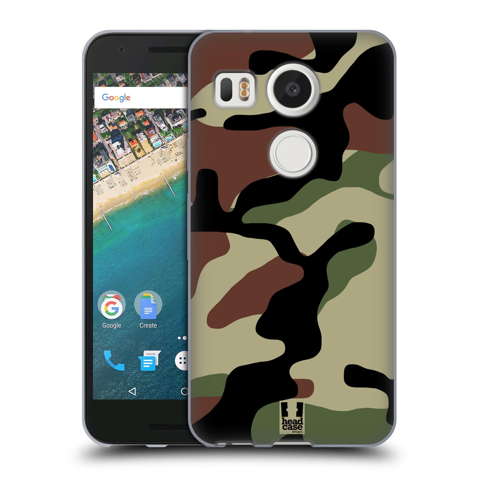 Silikonové pouzdro na mobil LG Nexus 5X - Head Case - Maskáče (Silikonový kryt či obal na mobilní telefon LG Nexus 5X)