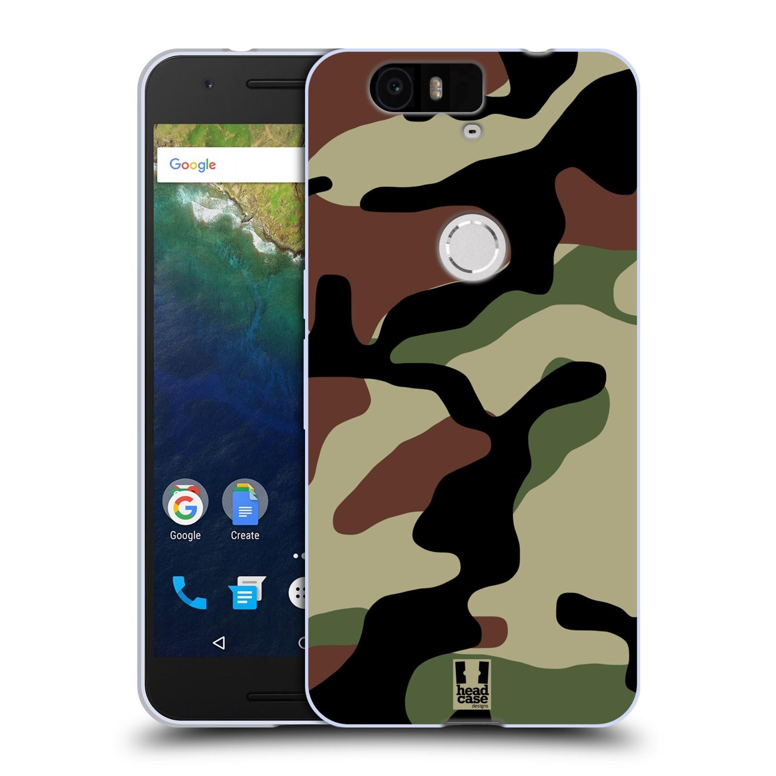 Silikonové pouzdro na mobil Huawei Nexus 6P HEAD CASE Maskáče (Silikonový kryt či obal na mobilní telefon Huawei Nexus 6P)