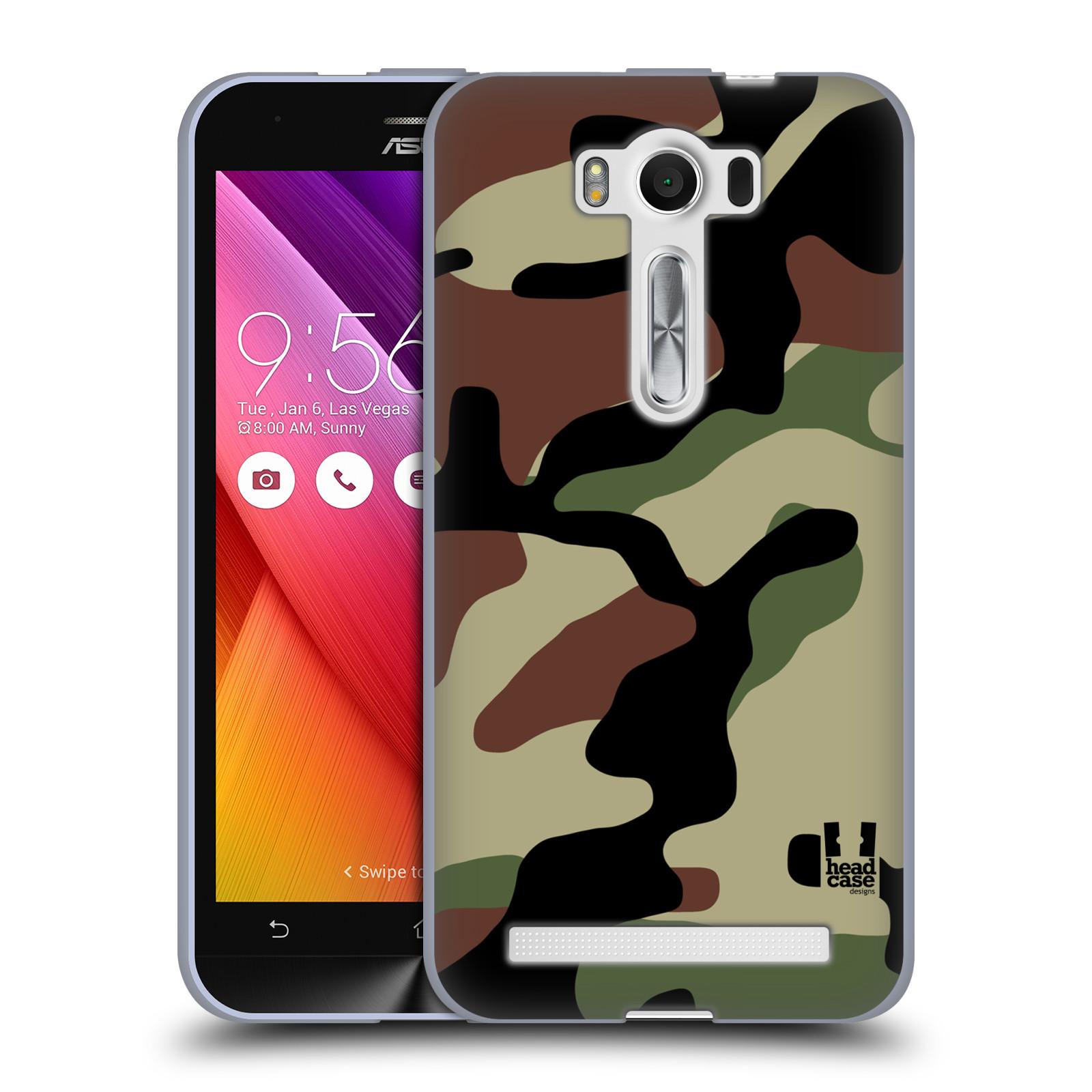 """Silikonové pouzdro na mobil Asus ZenFone 2 Laser ZE500KL HEAD CASE Maskáče (Silikonový kryt či obal na mobilní telefon Asus ZenFone 2 Laser ZE500KL s 5"""" displejem)"""