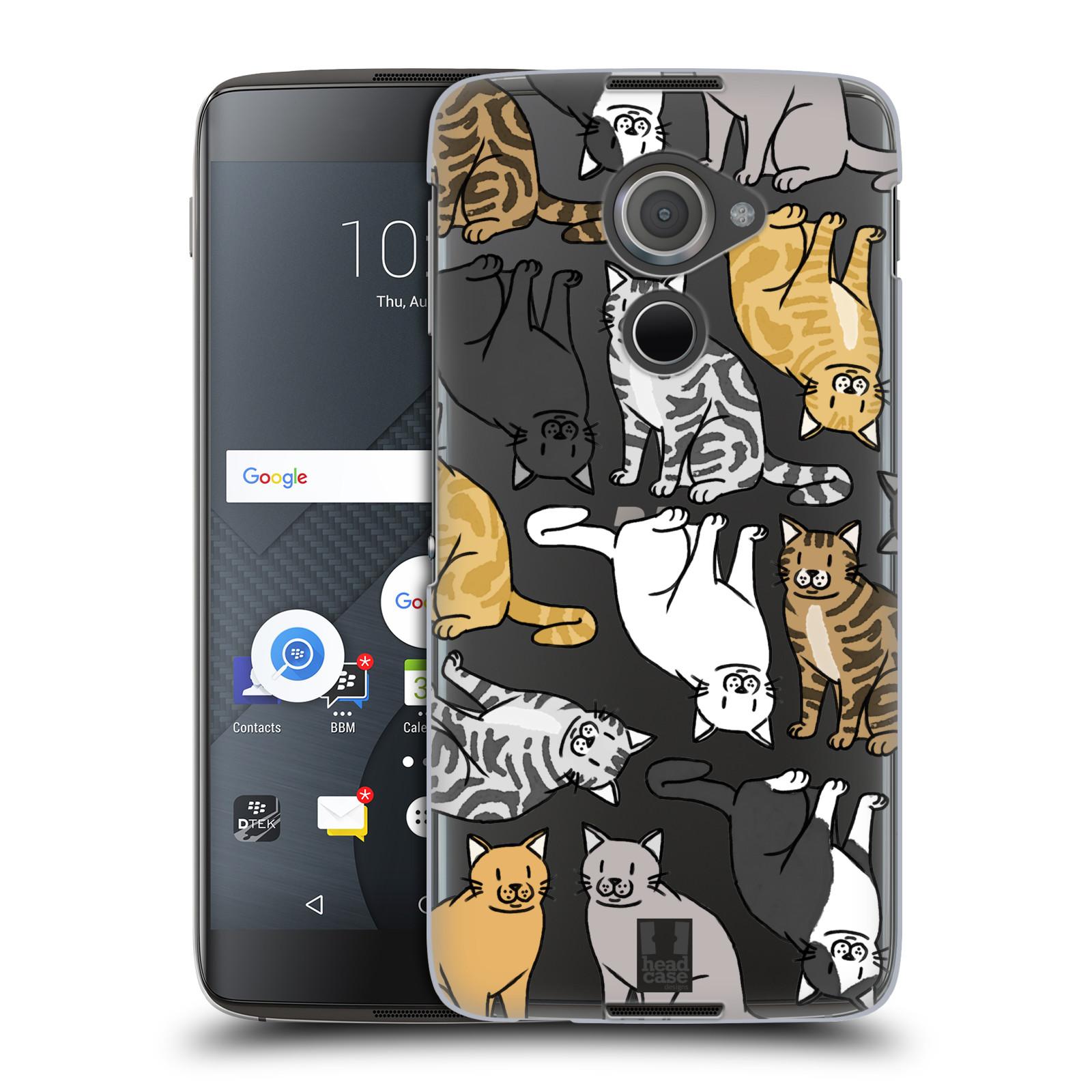 Plastové pouzdro na mobil Blackberry DTEK60 (Argon) - Head Case - Americká krátkosrstá kočička (Plastový kryt či obal na mobilní telefon s motivem kočiček pro Blackberry DTEK60 (Argon))