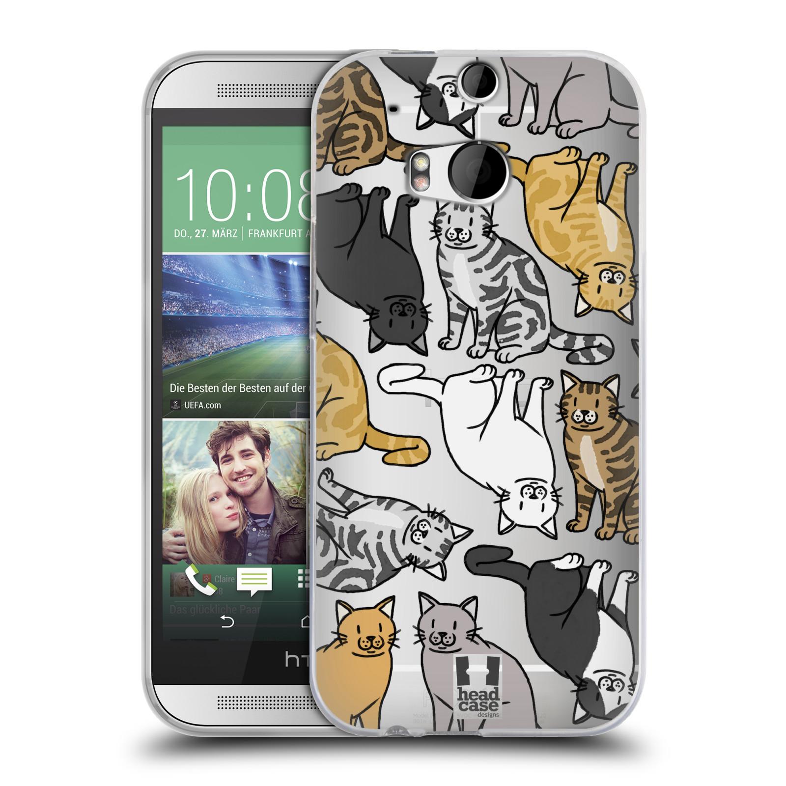 Silikonové pouzdro na mobil HTC ONE M8 - Head Case - Americká krátkosrstá kočička