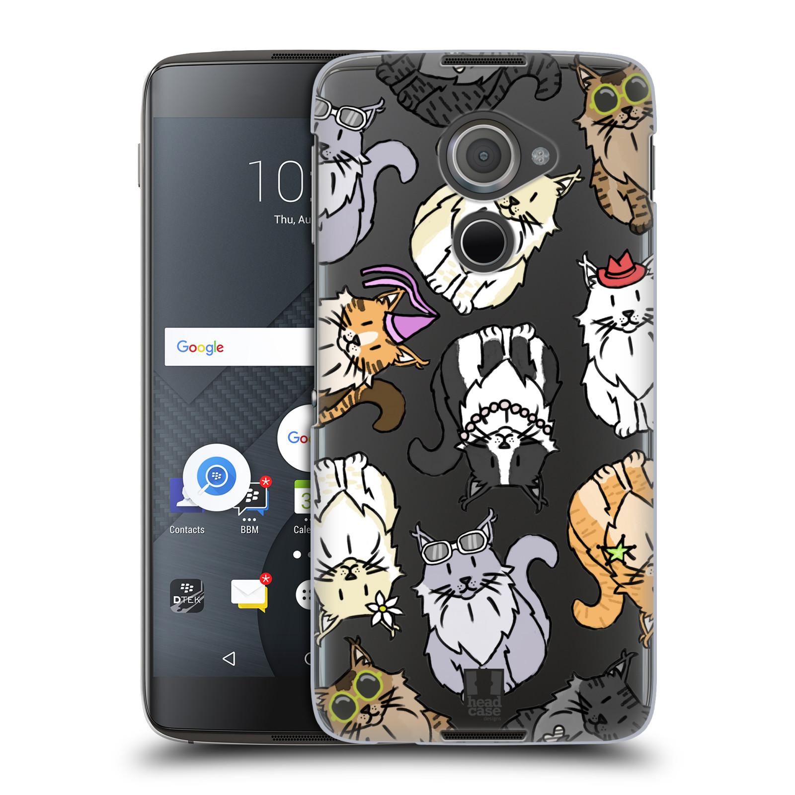 Plastové pouzdro na mobil Blackberry DTEK60 (Argon) - Head Case - Mainská mývalí kočka (Plastový kryt či obal na mobilní telefon s motivem kočiček pro Blackberry DTEK60 (Argon))